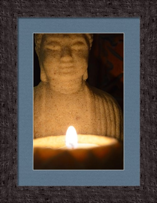 Kristie Kulp - Buddha and Candle Print