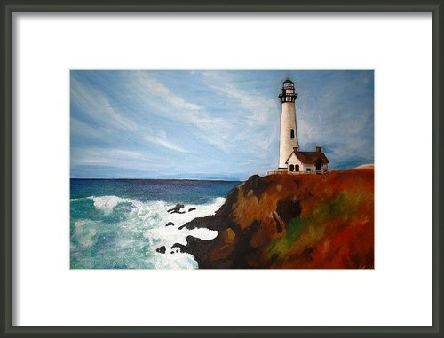 Katie Profita - Lighthouse on a Bluff Print