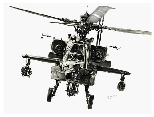 Murray Jones - Gunship Print