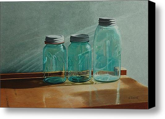 Nancy Teague - Ball Jars Take on Light Print