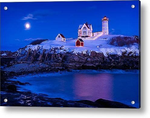 Michael Blanchette - Holiday Moon Print