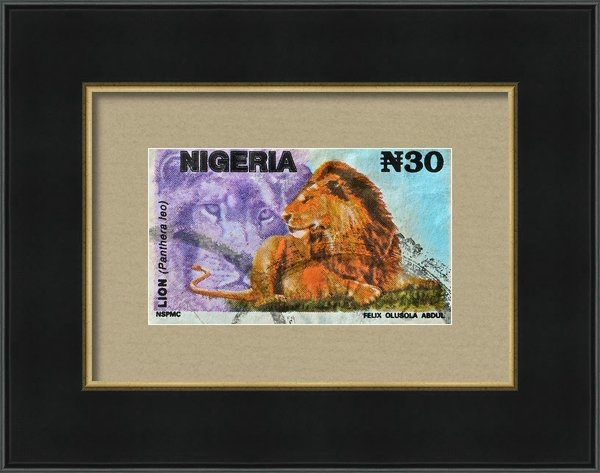 Bill Owen - 1993 Nigerian Lion Stamp Print