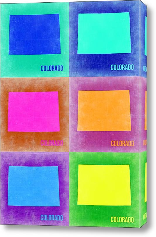Irina  March - Colorado Pop Art Map 3 Print
