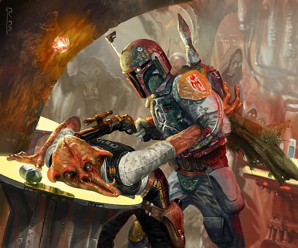 Ryan Barger - Boba Fett - Star Wars the... Print