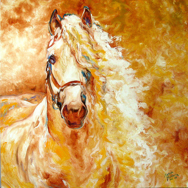 Marcia Baldwin - Golden Grace Equine Abstr... Print