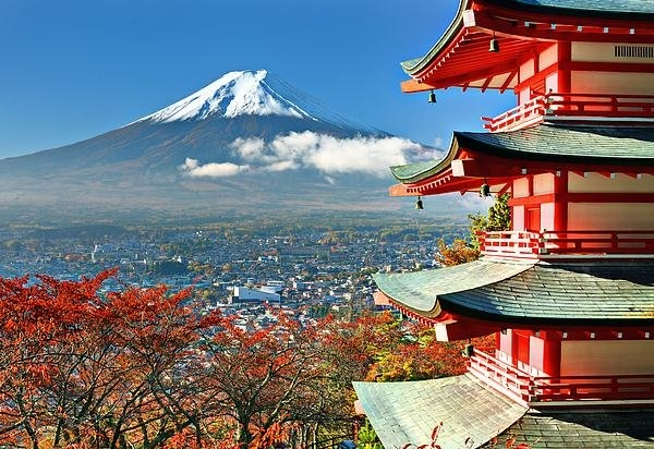 Sean Pavone - Mt. Fuji and Pagoda Print