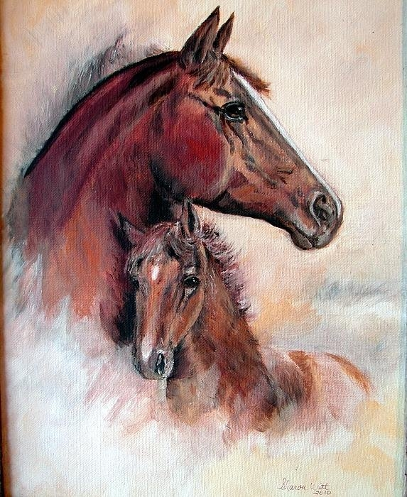 Sharon Witt - Mare and Colt Print