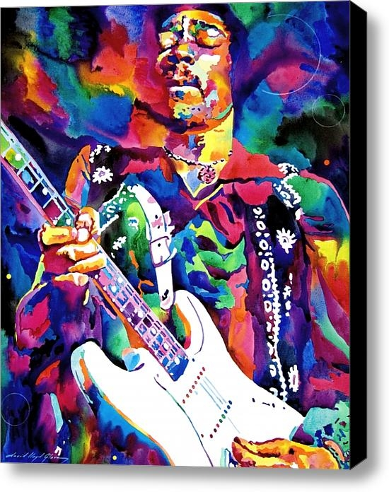 David Lloyd Glover - Jimi Hendrix Purple Print
