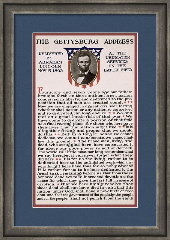 International  Images - Gettysburg Address Print