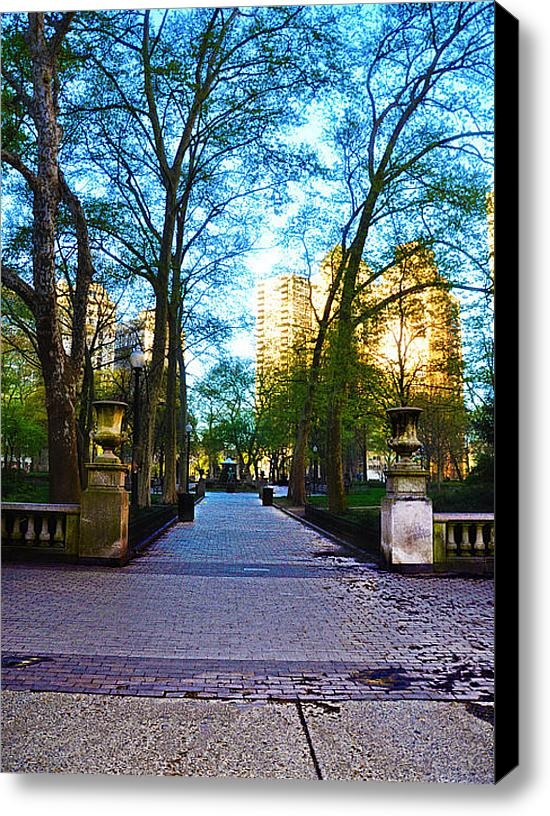 Bill Cannon - Rittenhouse Square Park Print