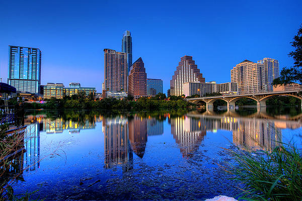 Dave Files - A Beautiful Austin Evenin... Print