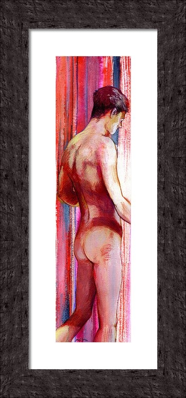 Rene Capone - Boy With Vertical Lines Print