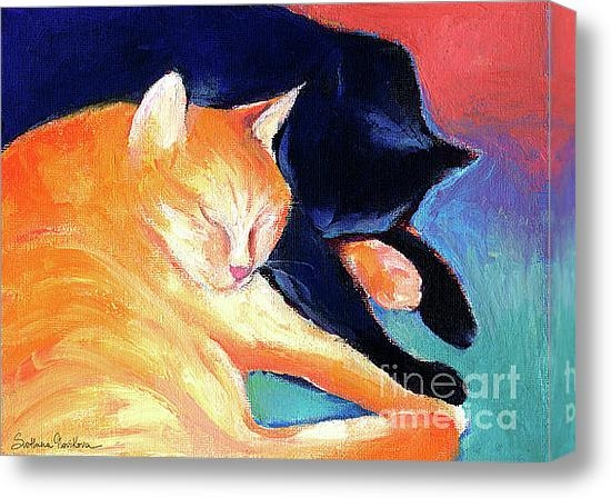Svetlana Novikova - Orange and Black tabby ca... Print