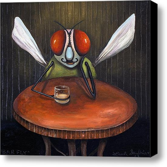 Leah Saulnier The Painting Maniac - Bar Fly Print
