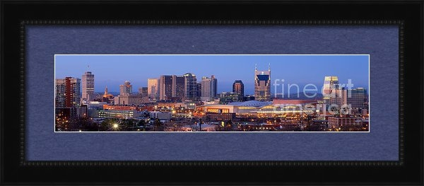 Jon Holiday - Nashville Skyline at Dusk... Print