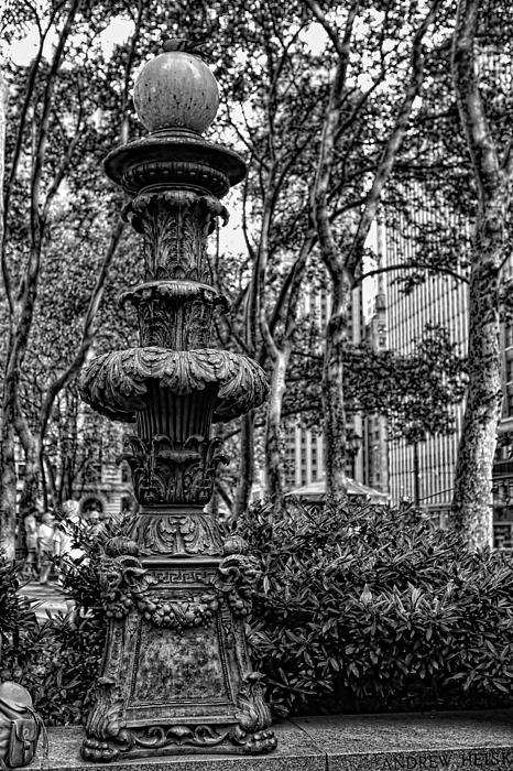 Lee Dos Santos - Central Park Lamp Post Print