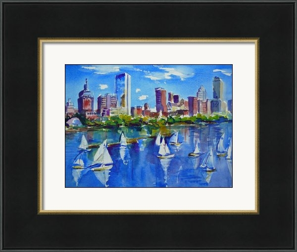 Diane Bell - Boston Skyline Print