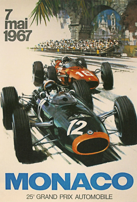 Nomad Art And  Design - Monaco Grand Prix 1967 Print