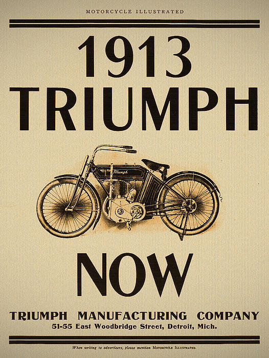 Digital Reproductions - 1913 Triumph Now Print