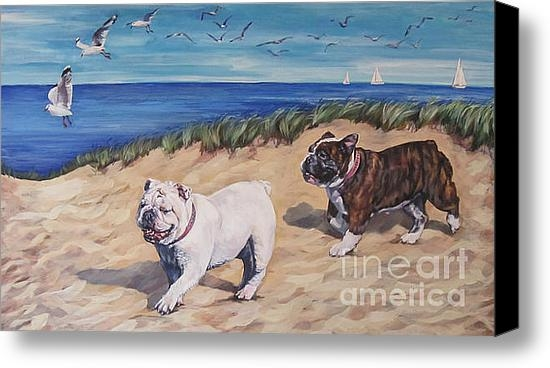 Lee Ann Shepard - Bulldogs on the Beach Print