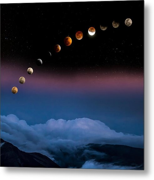 Mike  Neal - Lunar Eclipse 4/14/14 Print