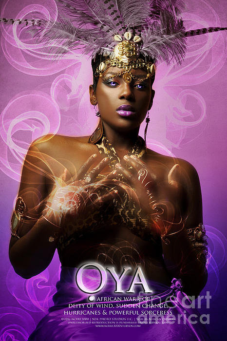 James C Lewis - Oya Print