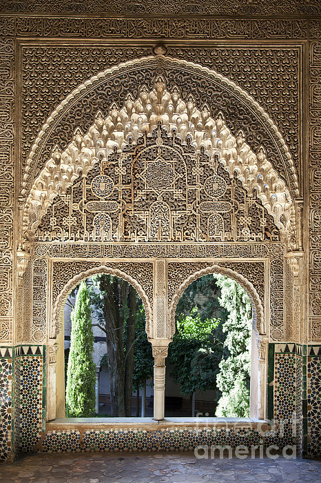 Jane Rix - Alhambra windows Print