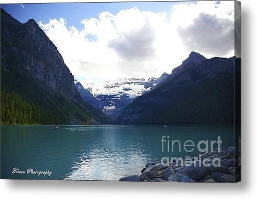 Christine Mlynarchuk - Mountains of Lake Louise Print