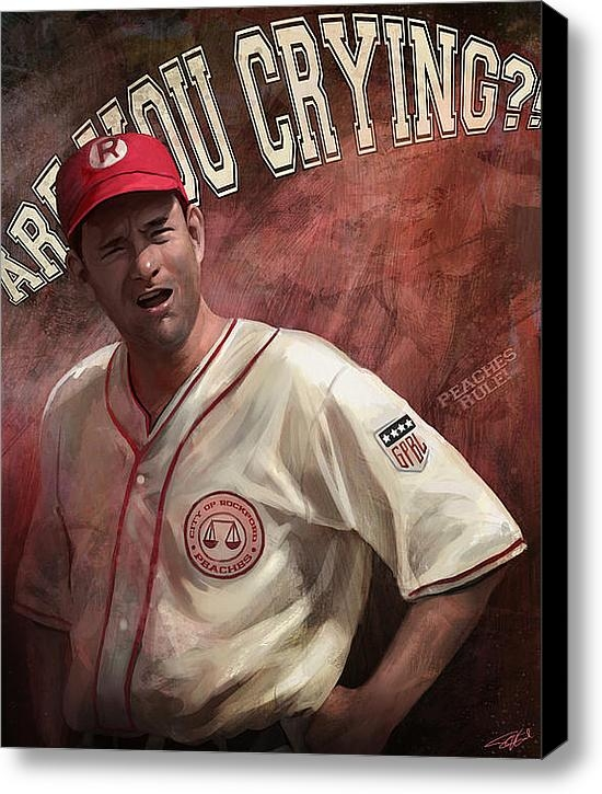 Steve Goad - No Crying In Baseball Print