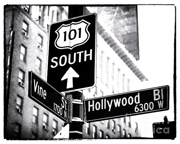 John Rizzuto - Vine and Hollywood Print