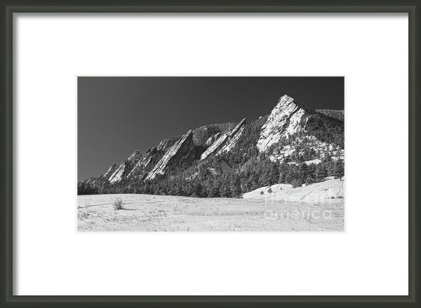James Bo Insogna - Snow Dusted Flatirons Bou... Print