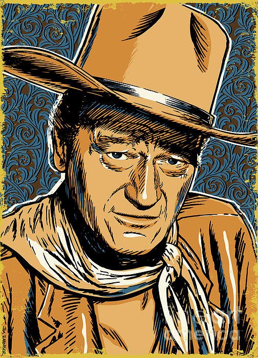 Jim Zahniser - John Wayne Pop Art Print