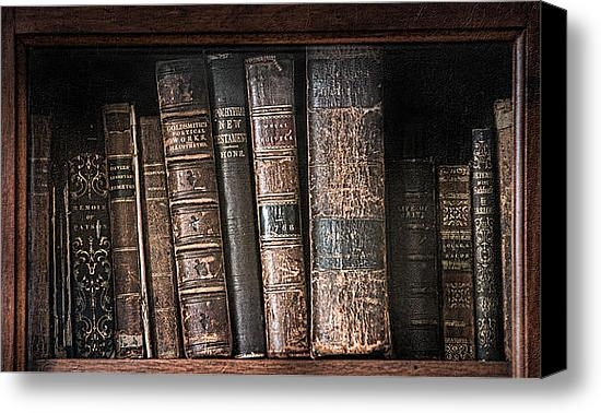 Gary Heller - Old books on the shelf - ... Print