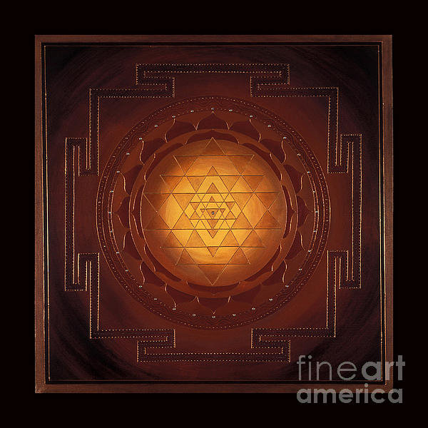 Charlotte Backman - Golden Sri Yantra Print
