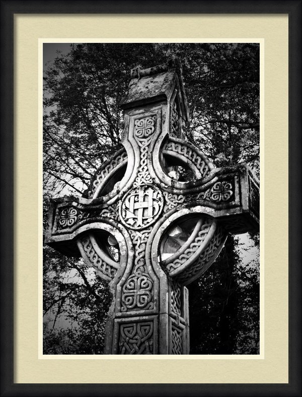 Teresa Mucha - Celtic Cross Detail Killa... Print