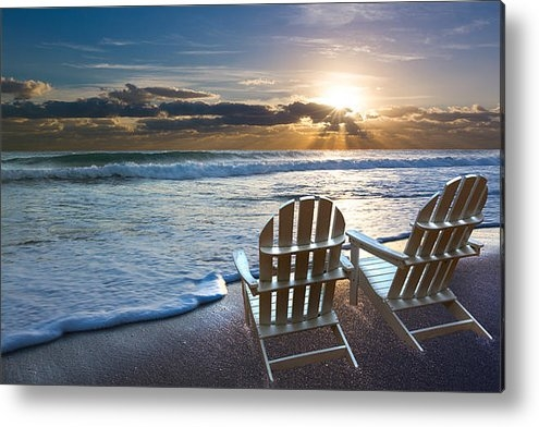 Debra and Dave Vanderlaan - Beach Chairs Print