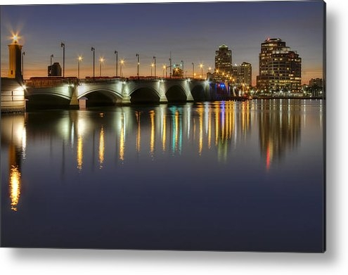 Debra and Dave Vanderlaan - West Palm Beach at Night Print