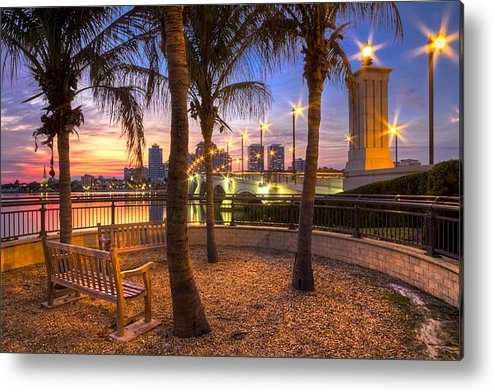 Debra and Dave Vanderlaan - Park on the West Palm Bea... Print