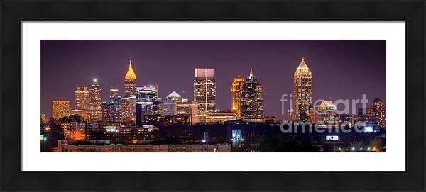 Jon Holiday - Atlanta Skyline at Night ... Print
