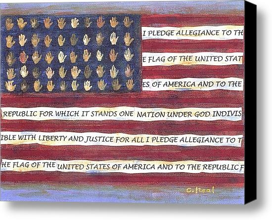 Carol Neal - Pledge Flag Print
