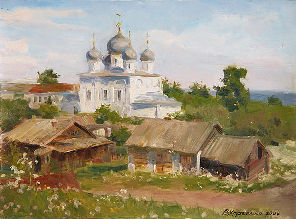 Victoria Kharchenko - Morning in Belozersk Print