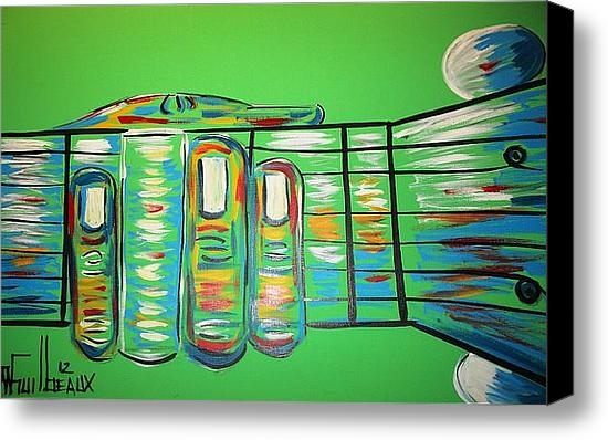 Troy Guilbeaux - Green Guitar Print
