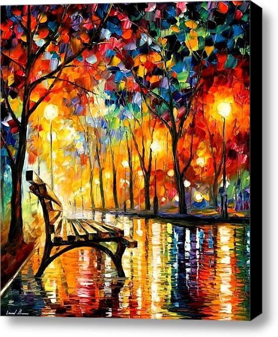 Leonid Afremov - The Loneliness Of Autumn Print