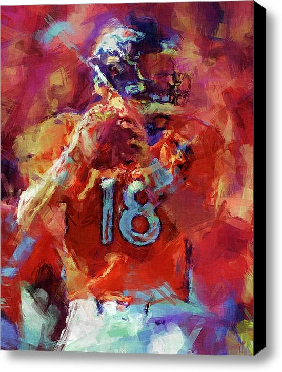 David G Paul - Peyton Manning Abstract 3 Print