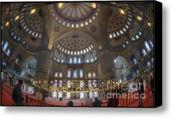 Joan Carroll - Blue Mosque Interior Print