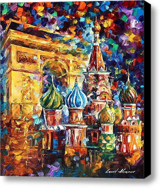 Leonid Afremov - From Moscow to Paris Print