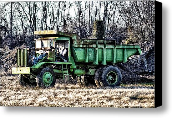 Bill Cannon - The Green Dump Truck Print