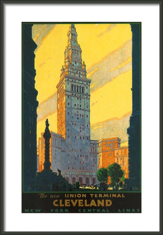 Nomad Art And  Design - Cleveland - Vintage Trave... Print