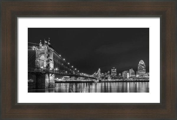 Dick Wood - Cincinnati Skyline at nig... Print