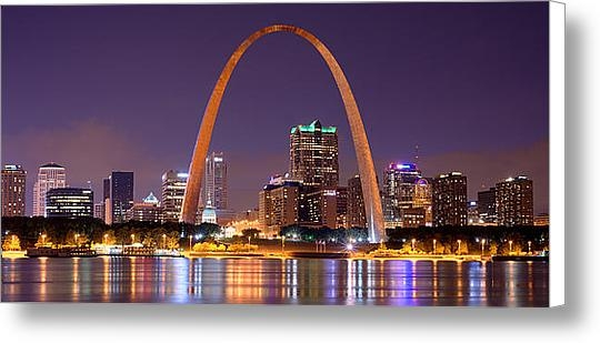 Jon Holiday - St. Louis Skyline at Nigh... Print
